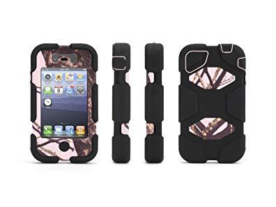 Griffin Pink Breakup/Black Survivor All-Terrain Case in Mossy Oak Camo for iPhone 4/4s