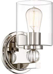 Minka Lavery Wall Sconce Lighting 3071-613 Studio 5 Wall Lamp Fixture, 1-Light 60 Watts, Polished Nickel