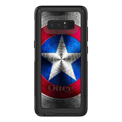 DistinctInc Case for Galaxy Note 8 - OtterBox Commuter Black Custom Case - Red White Blue Shield