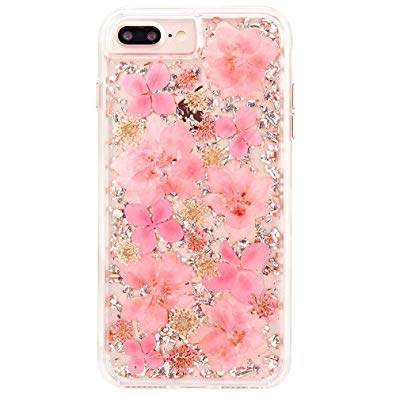 Case-Mate iPhone 8 Plus Case - KARAT PETALS - Made with Real Flowers - Slim Protective Design for Apple iPhone 8 Plus - Pink Petals