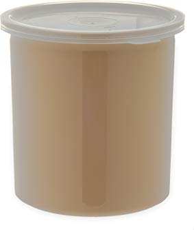 Carlisle 034106 Poly Tuf Polypropylene Crock with Lid, 1.2 qt. Capacity, 5.18
