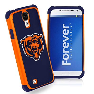 Forever Collectibles Chicago Bears Rugged Dual Hybrid Samsung Galaxy S4 Case