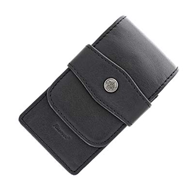 Kaweco 3 pcs flap case, leather black for sport series