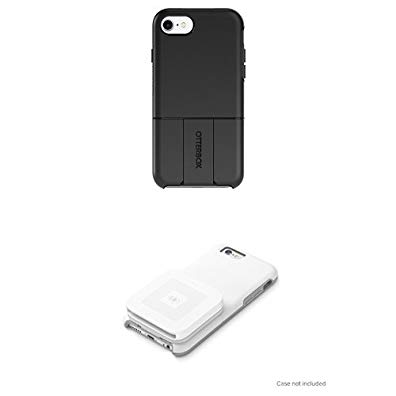 OtterBox uniVERSE SERIES Module/Swappable Case for iPhone 7 (ONLY) - Retail Packaging - BLACK and Square Contactless and Chip Reader with OtterBox uniVERSE Case Adapter (case not included) Bundle