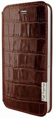 Apple iPhone 5 / 5S Piel Frama Brown Crocodile FramaSlim Leather Cover