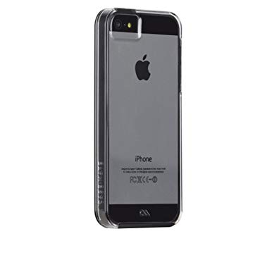 Case-Mate Naked Tough Case for iPhone 5/5S - Retail Packaging - Clear/Black Bumper