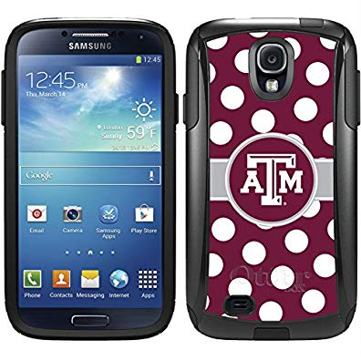 Coveroo Commuter Series Cell Phone Case for Samsung Galaxy S6 - Texas A&M Polka Dots