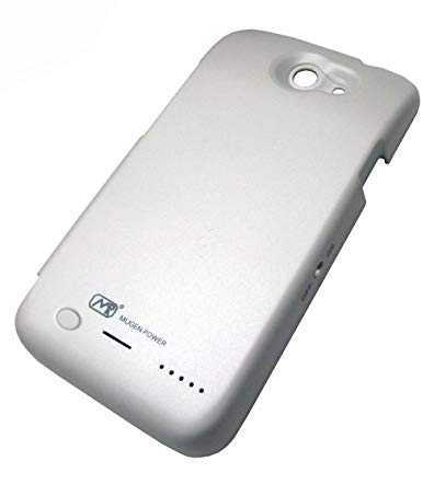 Mugen Power Extended 3200mAh Battery Case for AT&T HTC One X White