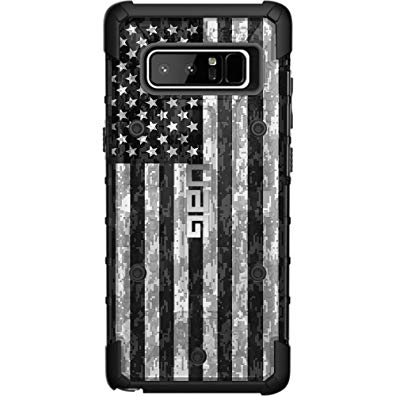 LIMITED EDITION - Authentic UAG- Urban Armor Gear Case for Samsung Galaxy Note 8 Custom by EGO Tactical- US Subdued Flag, Reversed over Digital Camo