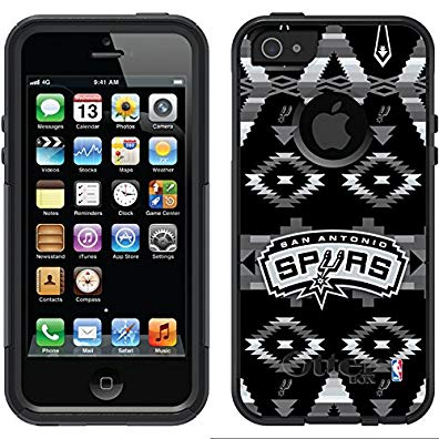 Coveroo Commuter Series Black Cell Phone Case for iPhone 5/5s - Antonio Spurs Tribal Print