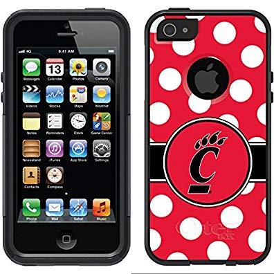 Coveroo Commuter Series Case for iPhone 4/4s - University of Cincinnati Polka Dots