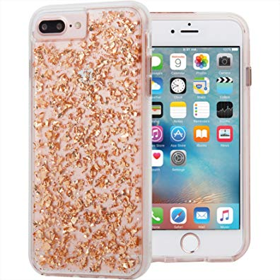 Case-Mate Karat Case Shock Absorbing Case For iPhone 8 Plus 7 Plus / 6s Plus / 6 Plus / iPhone 7 Plus/6s Plus/6 Plus Rose Gold