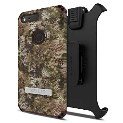 Seidio Dilex Kryptek Case with Kickstand and Holster Combo for Google Pixel XL - Highlander