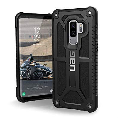 URBAN ARMOR GEAR UAG Samsung Galaxy S9 Plus [6.2-inch screen] Monarch Feather-Light Rugged [BLACK] Military Drop Tested Phone Case