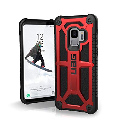 UAG Samsung Galaxy S9 [5.8-inch screen] Monarch Feather-Light Rugged [CRIMSON] Military Drop Tested Phone Case OPEN BOX